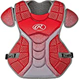 Rawlings CPVELI Red / Gray Velo Intermediate Chest Protector 15.5'' Ages 13-15