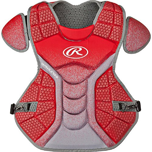 Rawlings CPVEL Red / Gray Velo Adult Chest Protector 17'' Ages 16 & Up by Rawlings