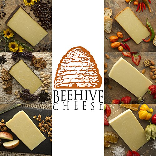 Beehive Cheese Sampler - Family of Cheese Gift Basket - Includes 6, 4oz Wedges of Aged Cheese in a Variety of Artisan Flavors (Artisan Food Gifts)