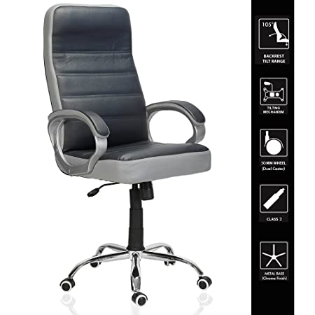 Green Soul London High Back Office Chair (Navy Blue & Grey)