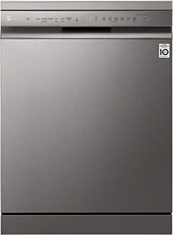 LG 9 Programs 14 Place settings Free Standing Dishwasher, Platinum Silver - DFB512FP, 1 Year Warranty