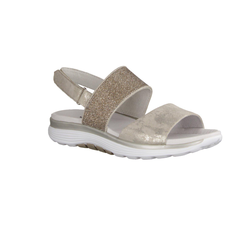 Gabor Damen Sandaletten Rolling Soft 86.914.93 Silber 417457  | Lass unsere Waren in die Welt gehen  | 2019