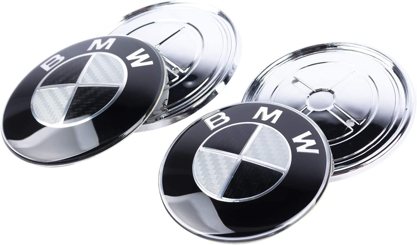 SFONIA Auto 82 mm 73 mm Carbonfaser vorne hinten Motorhaube Emblem Motorhaube Logo Kofferraum Badge