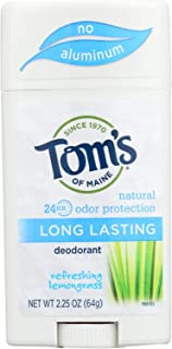product image for Toms of Maine Natural Long-Lasting Deodorant Stick Lemongrass - 2.25 oz - Case of 6