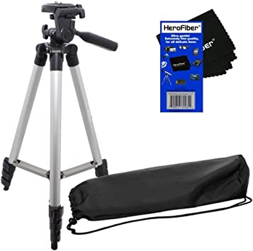 E-PL3 E-PL5 E-PL1 E-PM1 E-P3 E-P2 E-PL2 E-PM2 Digital Cameras w Ultra Gentle Cleaning Cloth E-PL6 HeroFiber 50 Light Weight Aluminum Photo//Video Tripod /& Carrying Case for Olympus Pen E-P1