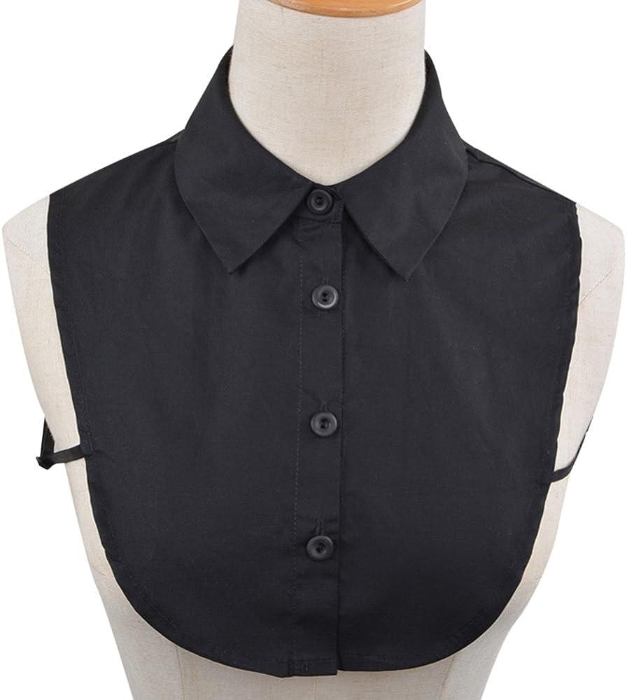 AKDSteel - Collar falso de algodón de color sólido para mujer, con ...