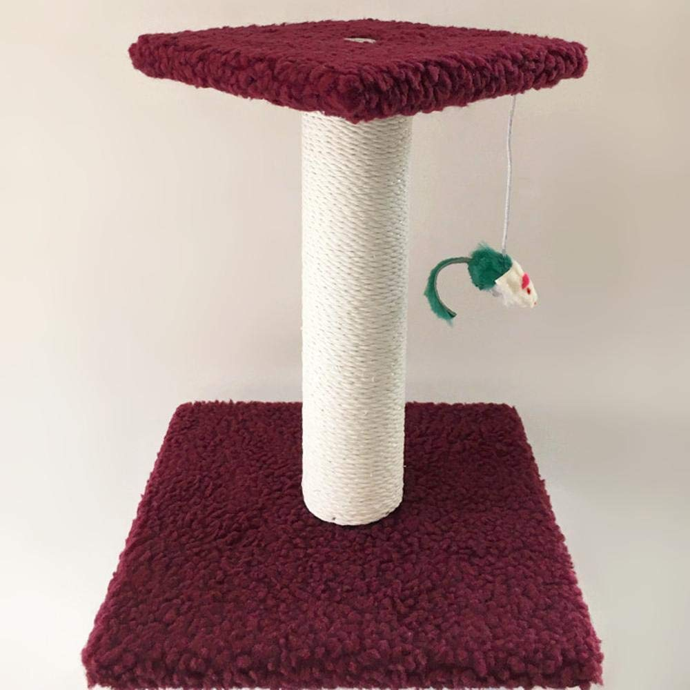 Beige Weiwei Cat Climb Rack Cat Litter cat tree cat grab column for game sleeping 28cm 28cm  32cm