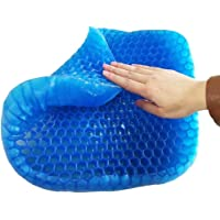 WAOBE Grid Mesh Gel Memory Foam Cushion para Ropa De Cama Ergonomics Breathable Honeycomb Diseñado Soft Gel Pad, Silla De Oficina, Asiento para Auto Cojín