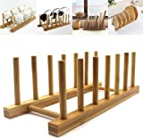 Bamboo Wooden Dish Rack Dishes Drainboard Drying Drainer Storage Holder Stand Kitchen Cabinet Organizer for Dish  sc 1 st  Amazon.com & Amazon.com: Simply Bamboo Plate Rack: Home \u0026 Kitchen
