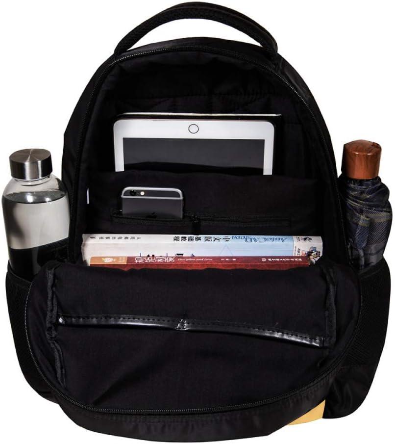 MAPOLO A Brown Fierce Owl School Backpack Travel Bag Rucksack College Bookbag Travel Laptop Bag Daypack Bag for Men Women