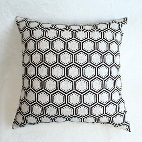 Funda Cojin Throwpillows Home Decorative Wedding Pillowcase Cotton and Striped Sofa Cushion Cover Throw Pillow Case (Pillow Striped Boudoir)