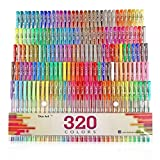 Kyпить Aen Art Gel Pens 160 Colored Gel Pen Set with 160 Refills Giving 320 Brilliant Gel Colors Perfect for Adult Coloring Books Drawing Painting Writing Marker на Amazon.com