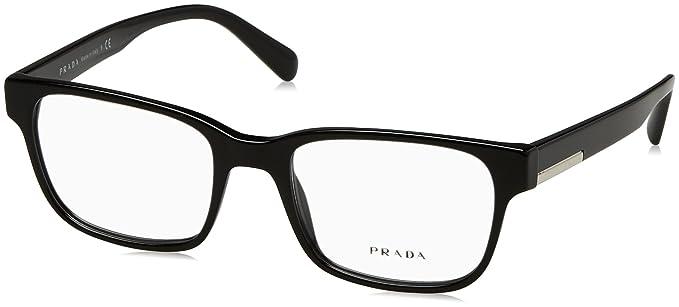 f85c7ec6085 Eyeglasses Prada PR 6 UV 1AB1O1 BLACK at Amazon Men s Clothing store