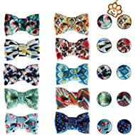 UFBemo 10 Pack Pet Dog Cat Bow Tie Pet Scarf Neckerchief Set Accessories for Small and Medium Dogs on Holiday