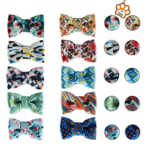 UFBemo 10 Pack Pet Dog Cat Bow Tie Pet Scarf Neckerchief Set Accessories for Small and Medium Dogs on Holiday ()