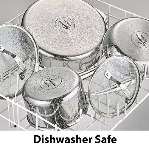 Lagostina Q939SC64 Tri-Ply Stainless Steel Multiclad Dishwasher Safe Oven Safe Glass Lid Cookware Set , 12-Piece, Silver by Lagostina (Image #4)