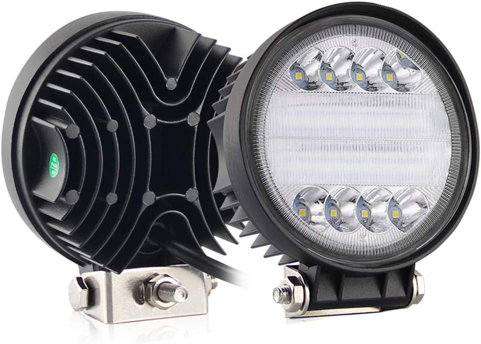 2X 18W PODS LED CREE WHITE MARINE BOAT PONTOON DOCK SPOT LIGHTS YACHT SET PAIR