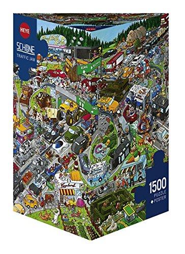 Heye Traffic Jam 1500 Piece Christoph Schöne Jigsaw Puzzle