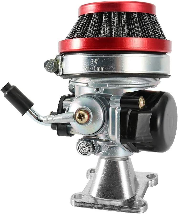 c/âble dacc/él/érateur de filtre /à air de carburateur de moteur 2 temps pour Pocket Bike ATV 49cc Carburateur Suuonee