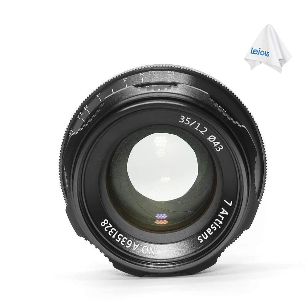 7artisans 35mm F1.2 APS-C Manual Focus Lens for Fuji X Mount X-A1, X-A2, X-at, X-M1, XM2, X-T1, X-T2, X-T10, X-Pro1, X-E1, X-E2