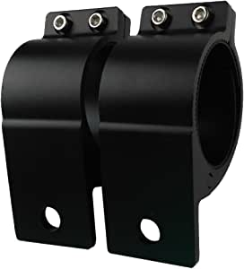 Audak 1 Pair 2.5 Inch Aluminum Mounting Bracket Tube Clamp for Bullbar Roof Rack Roll Cage (63.5-66mm/2.5-2.6 Inch Adjustable)