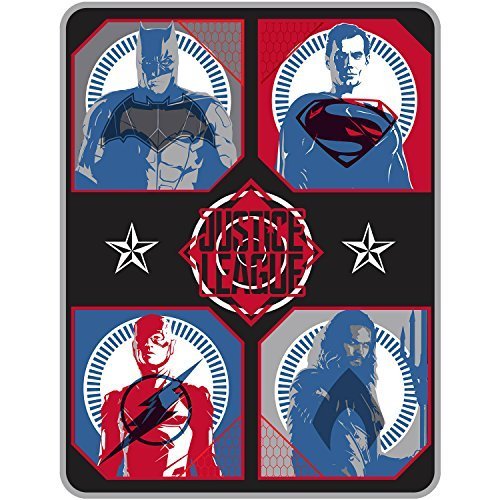 Justice League Movie 'Team Assembled' Kids Bedding Throw 46 x 60