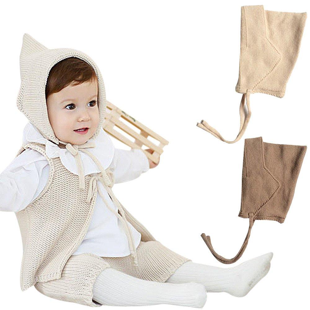 Beige hunpta Winter Elf Hat Baby Cap Children Baby Ear Cap For Men And Women