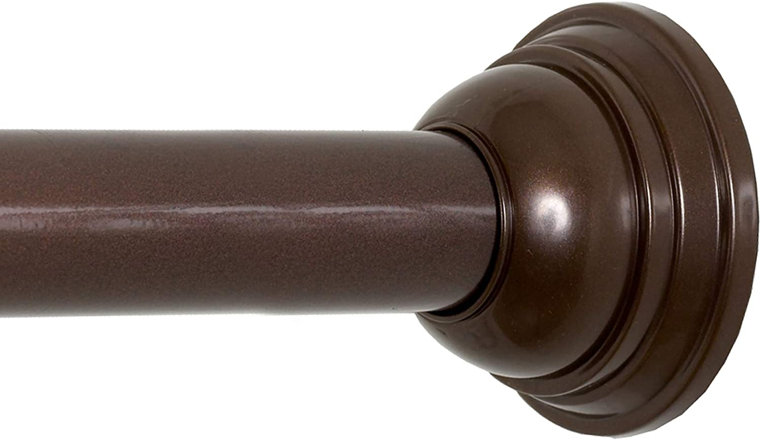 Zenna Home Decorative Tension Shower Curtain Rod, 44 to 72 Inches, Oil Rubbed Bronze