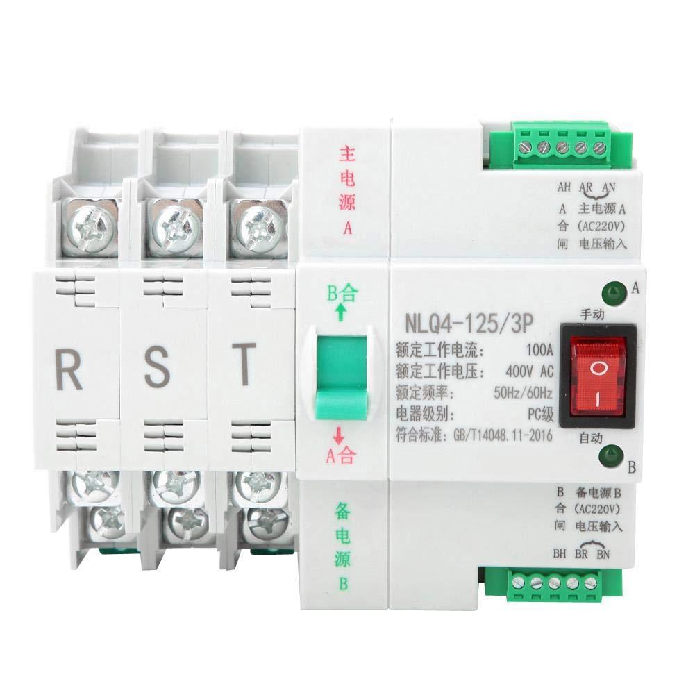 100A Nitrip AC 400V 3P 63//80//100A PC Level Dual Power Automatic Transfer Toggle Switch