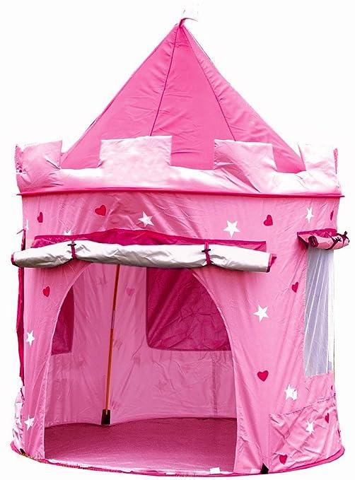 tenda gioco bambino  Tenda casette casa da gioco bambini bimbi, CASTELLO DELLE PRINCIPESSE,  piegatura pop up, rosa per le ragazze, interni ed esterni