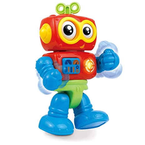 Little Learner My First Little Robot Electronic Sounds, Flashing Light and  Rolling Eyes