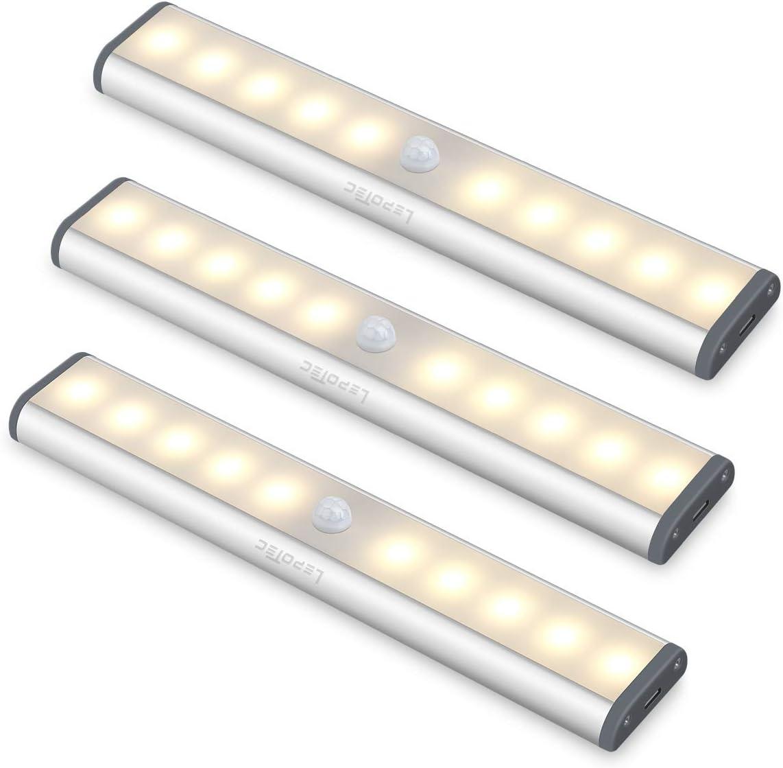 kabelloses wiederaufladbares /überall aufklebbares magnetisches Nachtlicht LED-Bewegungssensor-Schrankleuchte f/ür alle Bildschirme mit 54 Lampenperlen Unter Schrankgarderobenleuchten