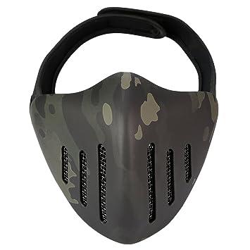 Giplar glodry Ritter Táctica Máscara Facial Máscara Motocicleta Máscara Camuflaje Airsoft Máscara Boca para Deportes al