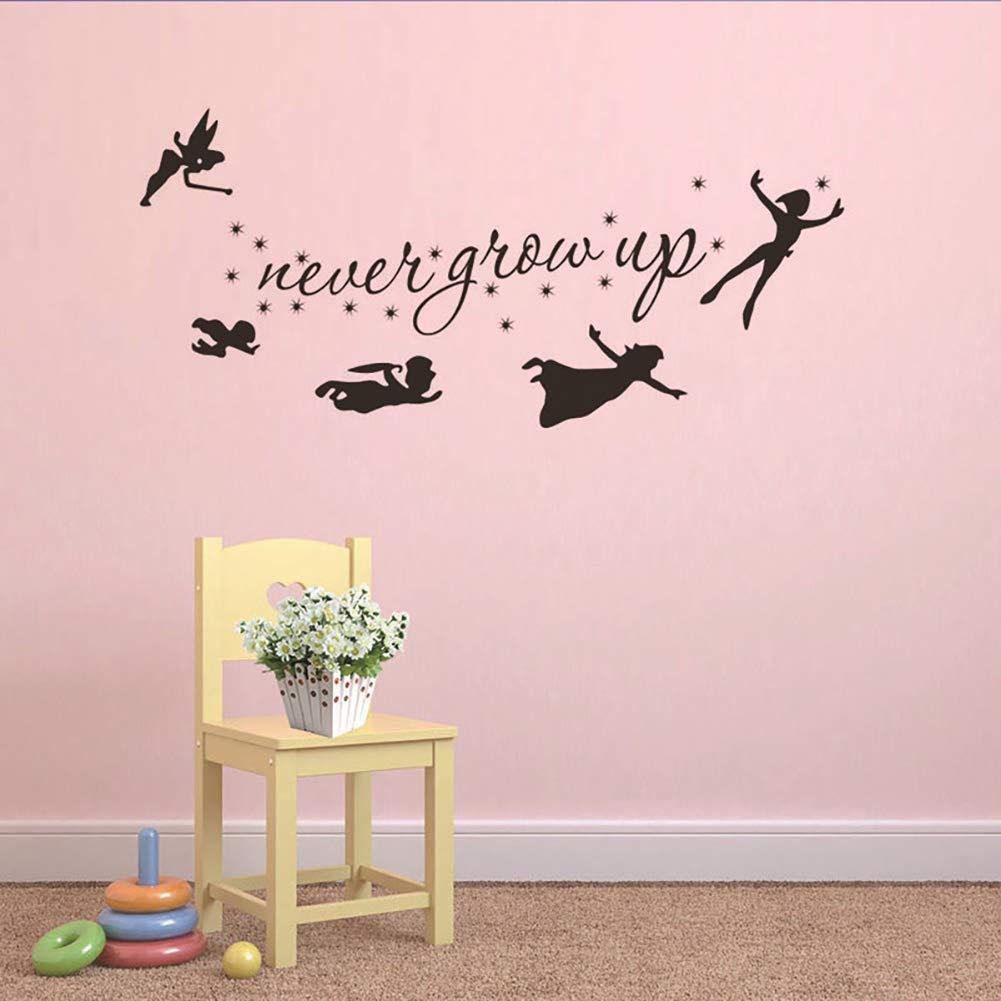 F/ée clochette Star Peter Pan Wall Decal enfants b/éb/é chambre vinyle autocollant Room decor