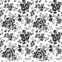 Papel de contacto de vinilo adhesivo de cubierta mágica para forro de estante, forro de cajón y proyectos de arte y manualidades: 18 pulgadas por 9 pies por rollo, patrón de toile negro