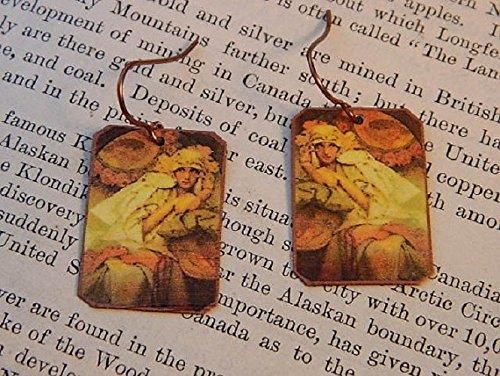 Mucha earrings Muse Goddess Alphonse Mucha jewelry