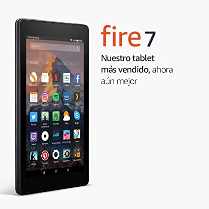 Tablet Fire 7, pantalla de 7 (17,7 cm), 16 GB (Negro) - Incluye ...