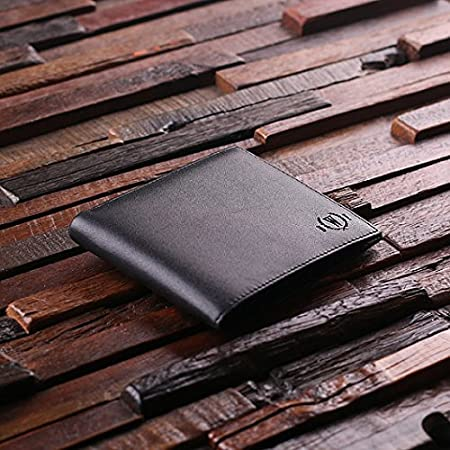 Personalised  Black Or Brown Leather Wallet Engraved Inside And Out For Free.