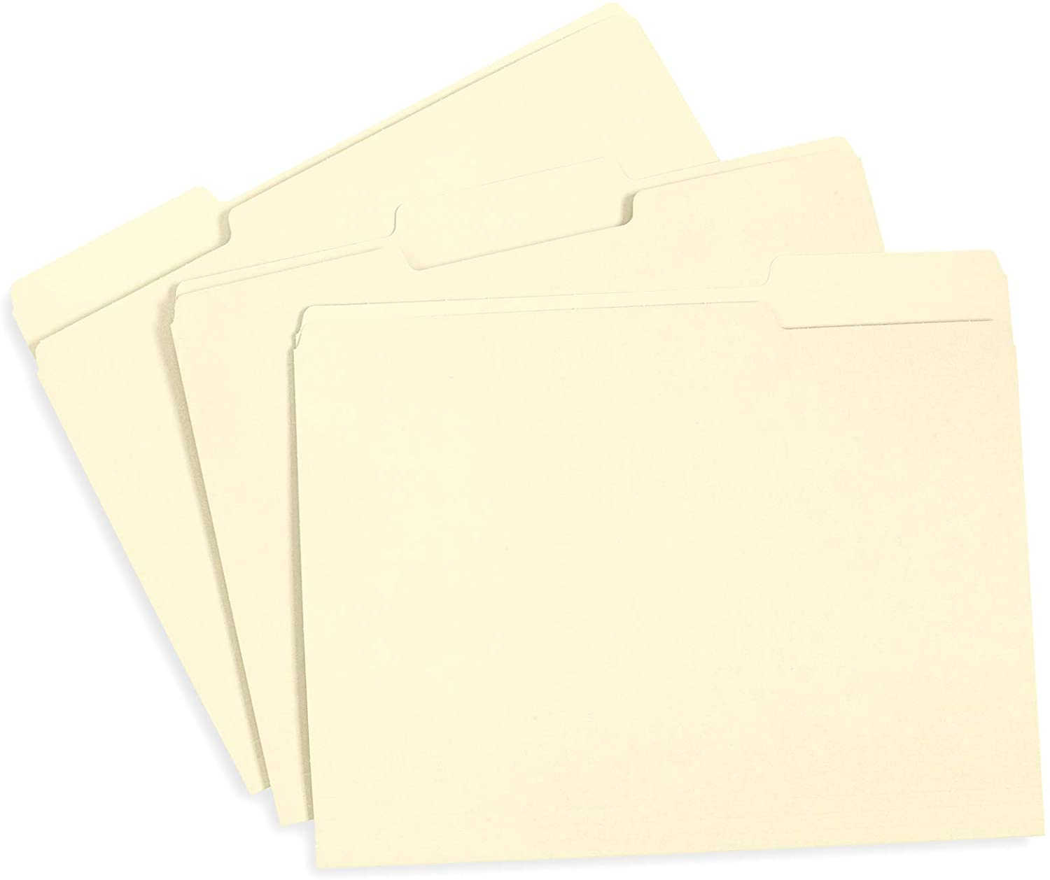 File Folder, 1/3 Cut Tab, Letter Size, Great for Organizing and Easy File Storage, 100 Per Box (Manila)