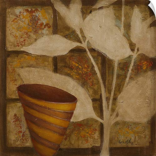 CANVAS ON DEMAND Little Striped Vase II Wall Peel Art Print, 12