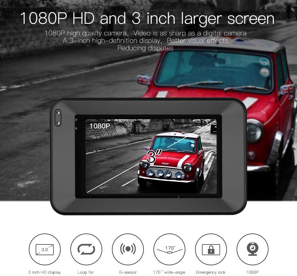 Car Dash Cam For Cars 3 Inch Lcd Screen 170 Wide Angle Elektronik