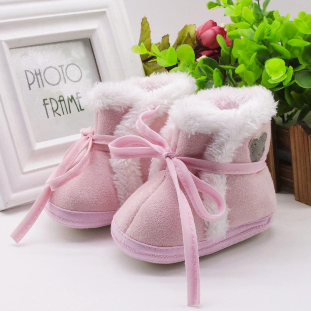 Voberry Baby Soft Sole Snow Boots Toddler Bear Prewalker Warm Shoes