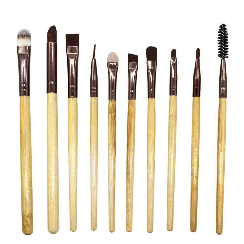 IMJONO - Juego de 10 brochas de maquillaje profesionales para ...