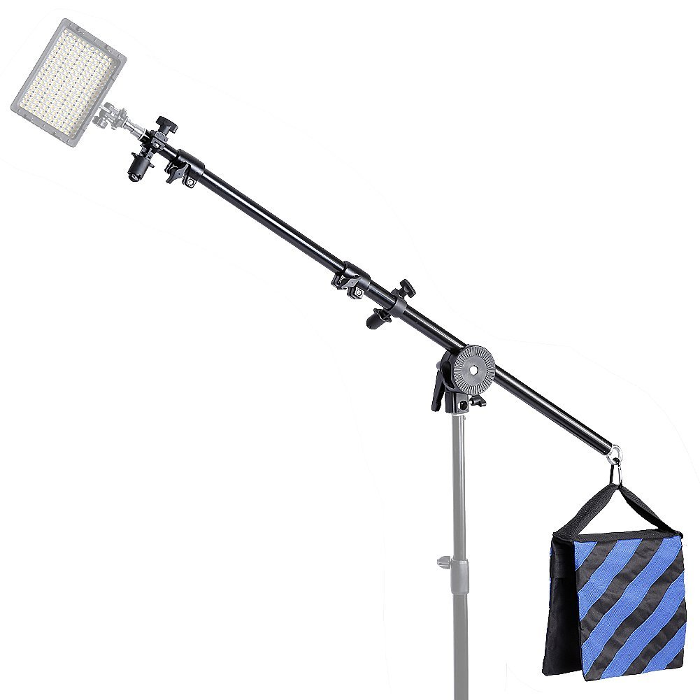 Neewer 30''-75''/76-190cm Swivel Head Aluminum Alloy 1/4'' Thread Mount Boom Arm Holder with Sandbag for Reflector,LED Video Light,Strobe Light,Monolight and Other Photographic Equipment by Neewer (Image #6)