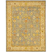 Safavieh Antiquities Collection AT314A Handmade Traditional Oriental Blue and Ivory Wool Area Rug (96 x 136)