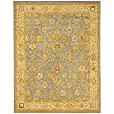 Safavieh Antiquities Collection AT314A Handmade Traditional Oriental Blue and Ivory Wool Area Rug (9'6'' x 13'6'')