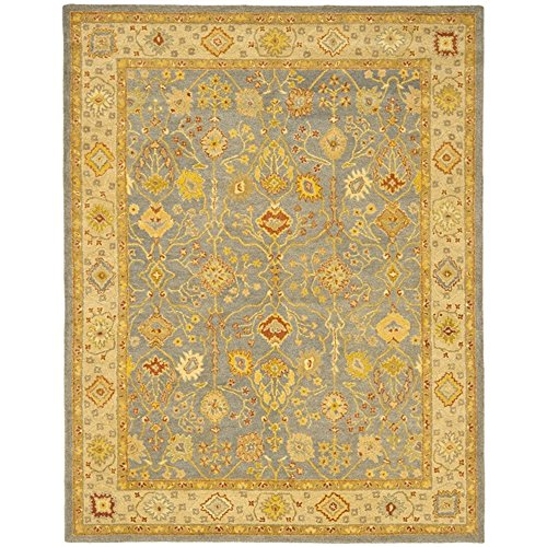Safavieh Antiquities Collection AT314A Handmade Traditional Oriental Blue and Ivory Wool Area Rug (9'6'' x 13'6'') by Safavieh