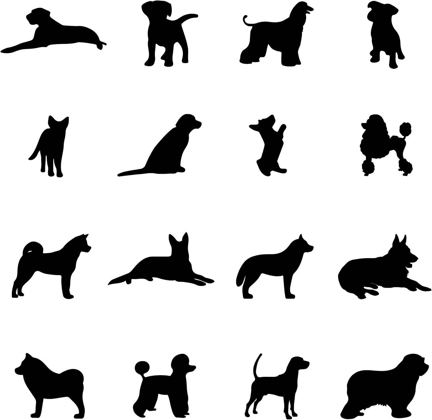 A Room with Dogs Wall Decals-Doggie Stickers for Kids Room Bedroom Nursery Playroom Decor