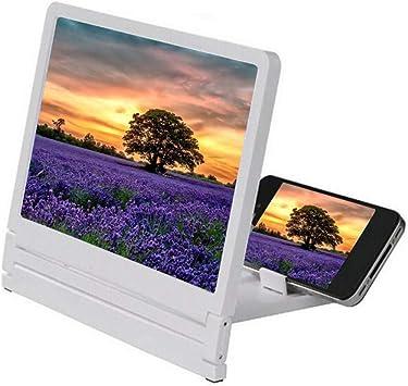 BEAUTPIINE Ligero Soporte para Smartphone con Lupa de Pantalla de Video de película 3D para Todos los teléfonos Inteligentes (White): Amazon.es: Electrónica
