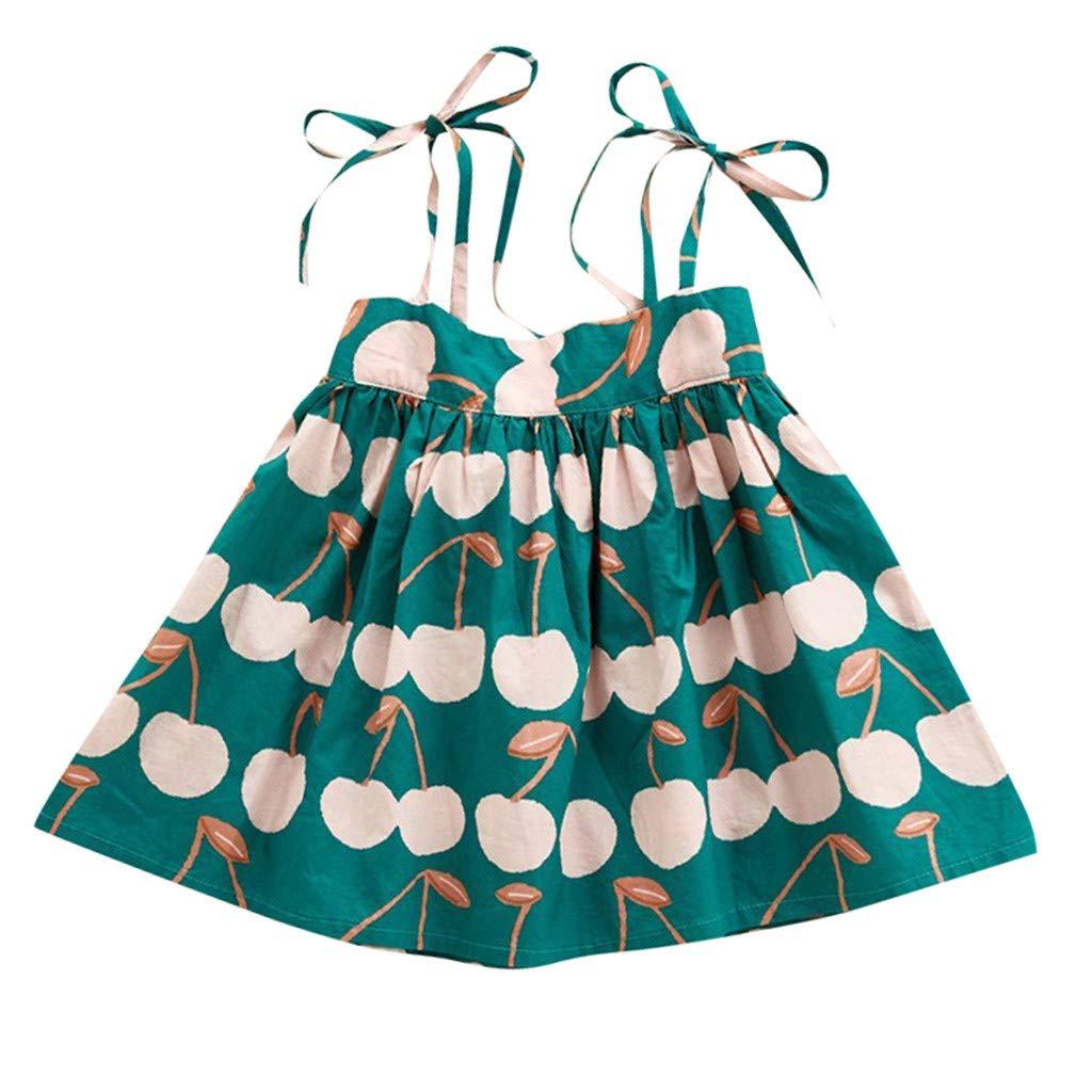 Subfamily Robe Imprim/é B/éb/é Fille Robe sans Manches Floral Formelle Filles Fleur Princesse Party Jupes Enfants